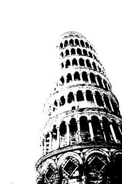 Turm von Pisa von Jessica van den Heuvel