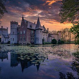 Kasteel Stapelen in de stad Boxtel, Nederland van Dennis Donders