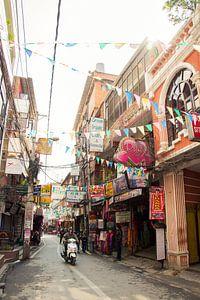 The streets of Kathmandu van