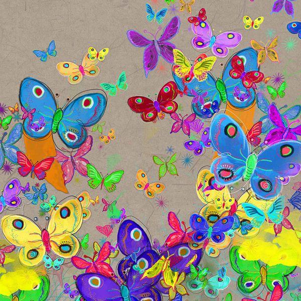 Vrolijke vlinders van Nicole Roozendaal