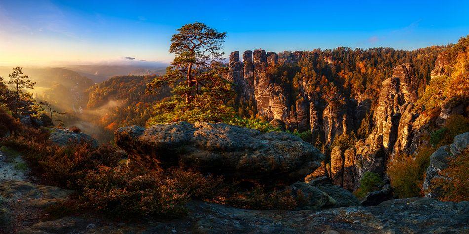 Blick in die Sächsische Schweiz van Daniela Beyer