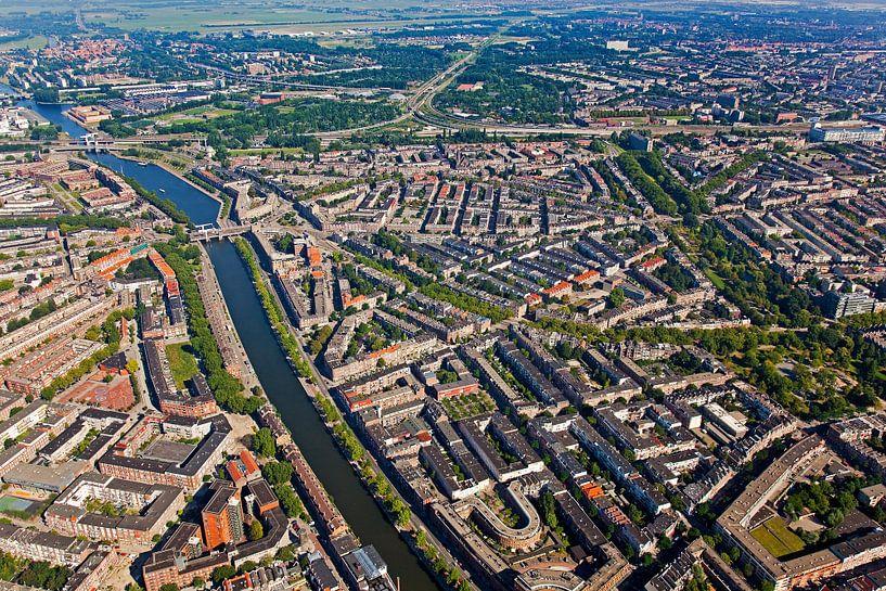 Luchtfoto Nieuwe Westen te Rotterdam van Anton de Zeeuw