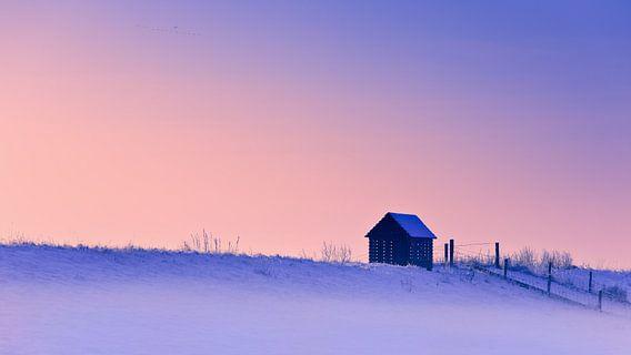 Winter in Groningen, Nederland