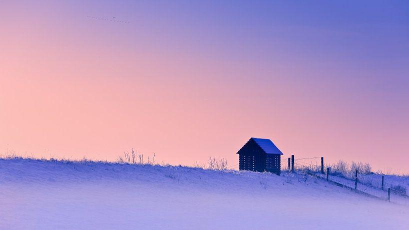 Winter in Groningen, Nederland van Henk Meijer Photography