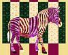 Gestreepte zebra van Studio Mattie thumbnail