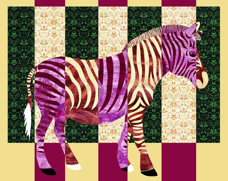 Gestreepte zebra van Studio Mattie