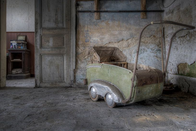 Oude kinderwagen van Steve Mestdagh