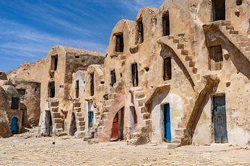 Authentische Häuser in Medenine, Tunesien von Jessica Lokker