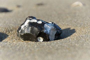 Steen op het strand van Ad Jekel