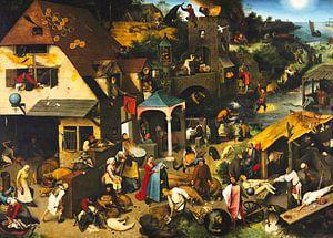 Nederlandse Spreekwoorden van Pieter Bruegel van Rebel Ontwerp