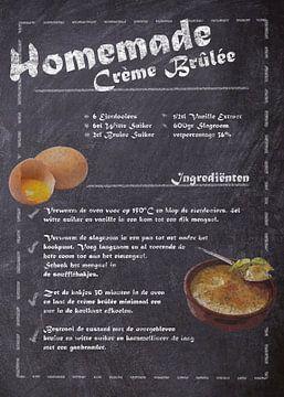 Dessert Recept:  Crème Brûlée van JayJay Artworks