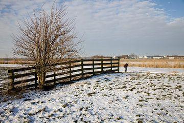 Landschap met schaatser von Elisabeth Fotografie