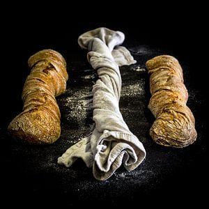 Stilleven Brood, knoflookbrood