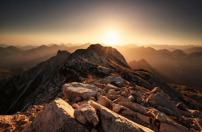 Sonnenaufgang Großer Daumen Allgäuer Alpen von Olha Rohulya
