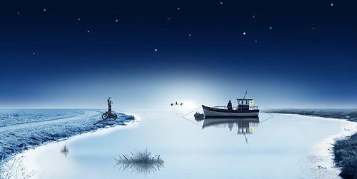 Het meer in winterslaap
