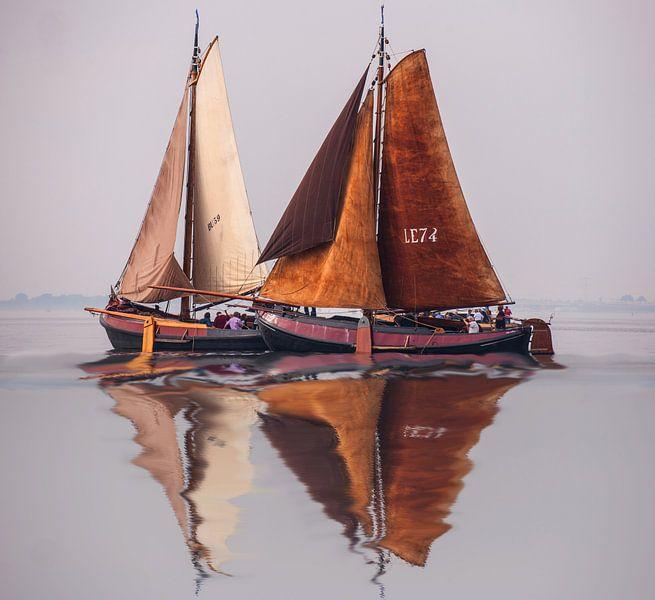 Antique Sailboat Dutch van Brian Morgan