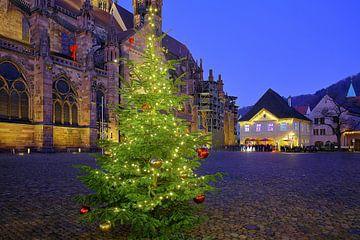 Weihnachtsmarktplatz Freiburg von Patrick Lohmüller
