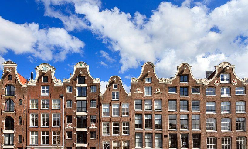 Amsterdamse grachtenpanden van Dennis van de Water