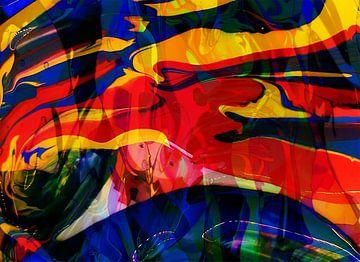 Structuur kleurrijk van Wil Meijer-Kal