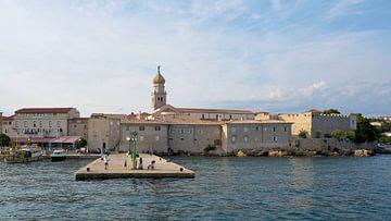 la ville de Krk vue de la mer