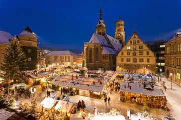 Marché de Noël à la Schillerplatz à Stuttgart sur Werner Dieterich