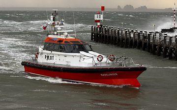 Loodsboot op de Westerschelde van MSP Canvas
