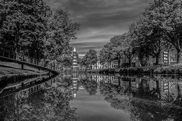 Breda - Park Valkenberg - Leuchtturm - Schwarz und weiß von I Love Breda