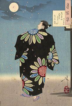 Fukami Jikyu in maanlicht, Tsukioka Yoshitoshi van