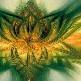 Abstract Groen van Marga Vroom