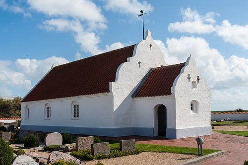 kerk op het deense eiland Mandø  von Geertjan Plooijer