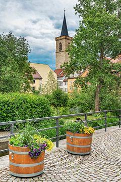Turm der Ägidienkirche an der Krämerbrücke Erfurt von Gunter Kirsch