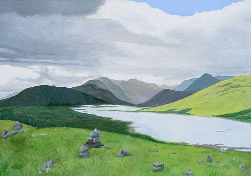 Schotland, Skye. Acryl schilderij van Marlies Huijzer