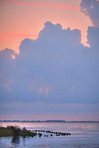 Zonsondergang Eemmeer bij Spakenburg van