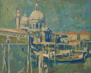 Gondeln auf dem Grande Canale in Venedig von Nop Briex