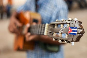 Muziek op straat in Havana, Cuba von Bart van Eijden