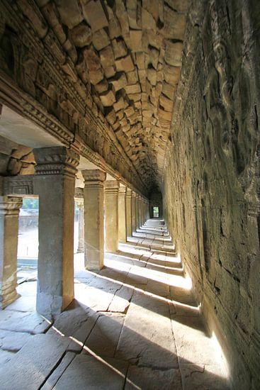 In den Tempelanlagen von Angkor