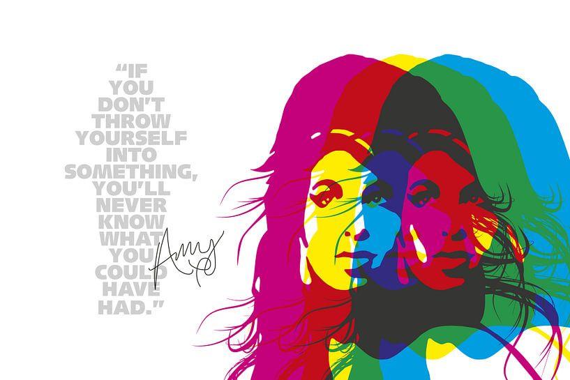 Amy Winehouse Quote van Harry Hadders