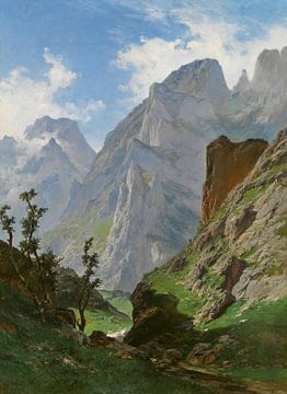 Landschaft Carlos de Haes-Tal, Quelltal, Antike Landschaft