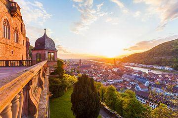 Heidelberg bij zonsondergang van Werner Dieterich