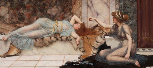 John William Godward. Mischief and Repose, 1895