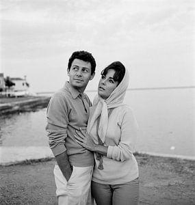 Liz Tayler and Eddie Fisher