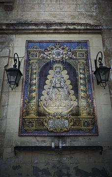 Religieus mozaik in Jerez de Frontera van Karel Ham