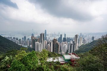 Hong Kong gezien vanaf Victoria Peak van Mickéle Godderis