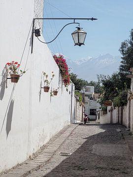 Straße in Arequipa von Sanne van der Stoel