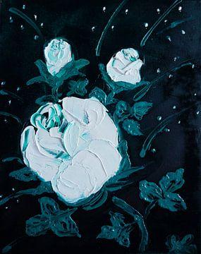 weiße Rose  van Babetts Bildergalerie