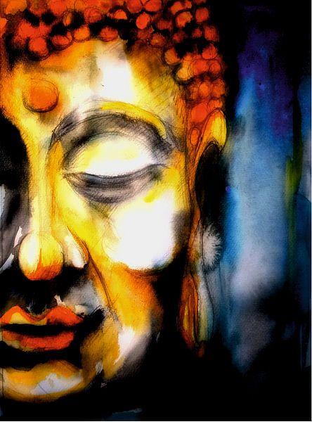 Buddha - The Watercolor 06022021-01 von Michael Ladenthin