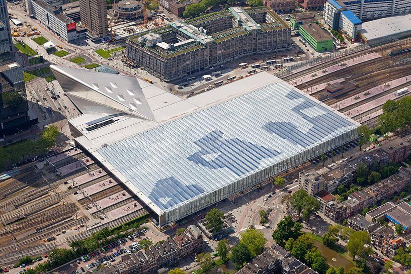 Luchtfoto Rotterdam Centraal Station van Anton de Zeeuw
