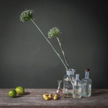 Modern stilleven met prei bollen [vierkant] van Affect Fotografie