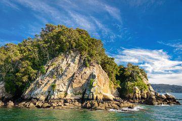 Rotsachtige kust Zuidereiland, Nieuw Zeeland van Rietje Bulthuis
