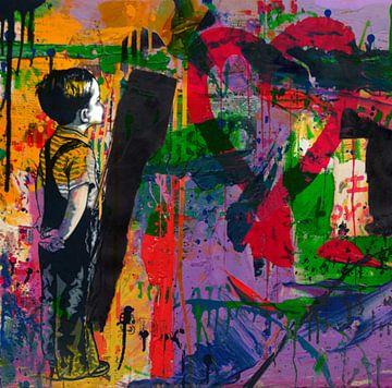 Hommage Banksy - Love - Abstrakt Game von Felix von Altersheim